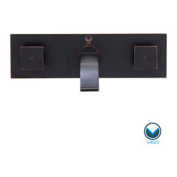 Vigo - Vigo Titus Antique Rubbed Bronze Finish Dual Lever Wall Mount Faucet and Pop Up - The Vigo Titus dual lever wall mount faucet offers a modern, assertive design that will lend an updated touch to your bathroom design. Complete with an antiqued rubbed bronze finish, this set is complete with a matching pop-up drain.