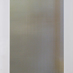 Cross Reed Decorative Interior Glass Door - The elegant Cross Hatch Reed glass interior door offers an obscured view and a modern appeal, ideal for any residence. This door style is great for kitchens, laundry rooms, offices and any room where light and simple elegance is desired, but not full visibility. The Cross Hatch Reed style door is offered in a variety of 9 wood species to compliment any interior including: primed white, pine, oak, knotty pine, fir, maple, knotty alder, cherry and African mahogany. Optional 8-foot tall doors are available in primed white and pine species only.