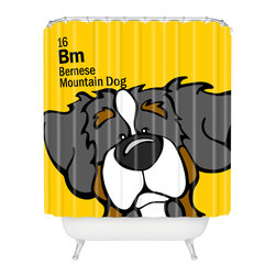 DENY Designs - Angry Squirrel Studio Bernese Mtn Dog 16 Shower Curtain - Who says bathrooms can't be fun? To get the most bang for your buck, start with an artistic, inventive shower curtain. We've got endless options that will really make your bathroom pop. Heck, your guests may start spending a little extra time in there because of it!