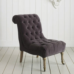 Zelda Nursing Chair, Gray Velvet