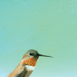 Hummingbird Fine Art Print - Clean. Simple. Beautiful. Forget the matte, forget the frame–each print comes with a sawtooth hanger and rubber bumpers and are ready to hang out of the box.