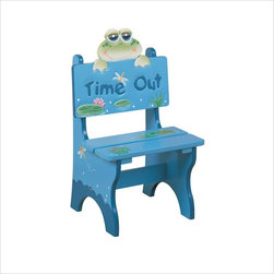 Teamson Design - Teamson Kids Froggy Hand Painted Kid Time Out Chair - Teamson Design - Kids Chairs - W5714F. This is a hand made and painted Froggy Collection Time Out Chair. It has a frog theme and is great when you need to give your child a time out. Your child might hate time out but will love this chair!