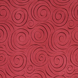 Red Abstract Swirl Microfiber Upholstery Fabric By The Yard - P0423 is great for all indoor upholstery applications including: automotive, residential, commercial and hospitality. Microfiber fabrics are inherently stain resistant, durable and machine washable. In addition, all of our microfiber fabrics are made in America.
