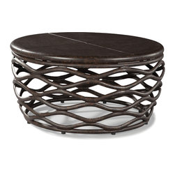 "LaneVenture Outdoor Patio Furniture - LaneVenture Industrial Renaissance 36"" Round Cocktail Table - LaneVenture is an innovative manufacturer of premium all-weather wicker and fully-upholstered outdoor furniture. LaneVenture does an amazing job of blending indoor styling with outdoor durability and has long been known for producing some of the most comfortable and fast-drying cushions in the casual furniture industry. LaneVenture is a favorite of Interior Designers while the South Hampton collection has been one of our best selling groups. http://www.authenteak.com/lane-venture.html"