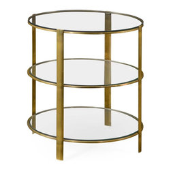 Jonathan Charles - 3-Tiered Avant Brass Charles Circular - Product Details