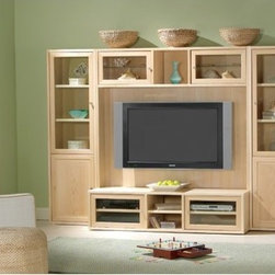 "Jesper Office - 63"" TV Stand - Features: -Distressed: No.-Powder Coated Finish: No.-Gloss Finish: No.-Material: Manufactured Wood.-Solid Wood Construction: No.-Exterior Shelves: Yes -Number of Exterior Shelves: 2.-Adjustable Exterior Shelves: No..-Drawers: No.-Cabinets: Yes -Number of Cabinets: 2.-Number of Doors: 2.-Door Attachment Detail: Hinges.-Interchangeable Panels: No.-Cabinet Handle Design: Knobs.-Number of Interior Shelves: 2.-Adjustable Interior Shelves: Yes..-Scratch Resistant : Yes.-Casters: No.-Accommodates Fireplace: No.-Fireplace Included: No.-Media Player Storage: No.-Media Storage: No.-Remote Control Included: No.-Batteries Required: No.-Swatch Available: No.-Collection: Collection 19.-Lift Mechanism: No.-Expandable: No.-TV Swivel Base: No.-Integrated Flat Screen Mount: No.Dimensions: -Overall Product Weight: 62.-Overall Height - Top to Bottom: 15.-Overall Width - Side to Side: 63.-Overall Depth - Front to Back: 20.-Shelving: Yes.-Cabinet: Yes.Assembly: -Assembly Required: Yes.Warranty: -Manufacturer provides 10 years warranty.-Product Warranty: 10 Years."