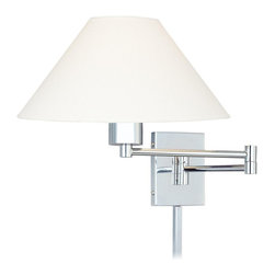 George Kovacs - P4358-1-077 Boring 1 Light Swing Arm Wall Sconces In Chrome with Oyster Glass - Product