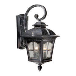 Vaxcel - Arcadia Burnished Patina Outdoor Wall Sconce - Vaxcel AD-OWU090BP Arcadia Burnished Patina Outdoor Wall Sconce