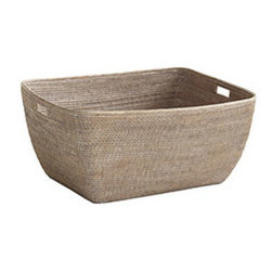 LARGE FAMILY BASKET - This quintessential basket has almost limitless functions: laundry basket, newspaper and magazine holder, or a toy corral. No matter how you choose to use it, prepare for it to be hijacked by curious children or sleeping cats. Our Burmese rattan line is perfect for introducing an organic element into your home. Whether you're adding a homey element to a traditionally decorated home or a touch of warmth to a modern space, these rattan items are beautiful, practical, and durable.