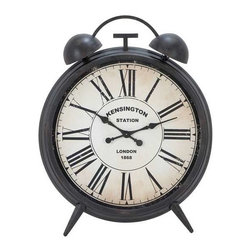 Benzara - Classic Metal Wall Clock Embodied and Exact Reproduction of Kensington Station - Classic Metal Wall Clock Embodied and Exact Reproduction of Kensington Station. This classic metal wall clock is a perfect addition to your interior decor and its old world charm and classic design. The dimensions of the classic metal wall clock are 40W x 3D x 50H. Some assembly may be required.