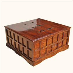 Mission Solid Wood Square Coffee Cocktail Table Storage Trunk Chest - Manufacturing details
