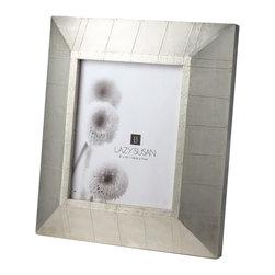 "Lazy Susan - Royal German Silver Wall Frame - -Use 8"" X 10"" Photo"