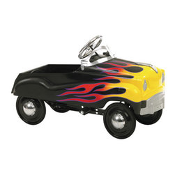 "InSTEP - Hot Rod Pedal Car - Whimsical yet functional memorabilia, InSTEP pedal cars are finely crafted from steel for a safe, fun ride - anywhere, anytime. Great as a gift or a decorative addition to a room, these classic pedal cars are fun for kids of all ages. Features: -Solid steel construction - Provides outstanding durability -Authentic detailing - Brings back memories of old times -Adjustable pedal drive - Fits a wide size range of children -Lead-free paint - For a safe and attractive finish -Functional steering - Provides true performance and easy use -Rubber tires and chrome hub caps - Finishes a great custom look -Dimensions: 37"" H ***Please note that these products cannot be shipped to Puerto Rico. We apologize for the inconvenience - feel free to call us regarding alternatives!"