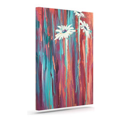 """Kess InHouse - Brienne Jepkema """"Whole"""" Teal Orange Wrapped Art Canvas (12"""" x 10"""") - Bring your outdoor patio to life with this artistic outdoor canvas wrap featuring gorgeous artwork by KESS InHouse. These canvases are not only easy to hang and remove but also are the perfect addition to your patio collection. These canvases are stretched around a wooden frame and are built to withstand the elements and still look artistically fabulous. Decorating your patio and walls with these prints will add the splash of art and color that is needed to bring your patio collection together! With so many size options and artwork to choose from, there is no way to go wrong with these KESS Canvas Wraps!"""