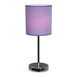 Simple Designs - Bed Side Lamps: 11.81 in. Chrome Basic Table Lamp with Purple Shade LT2007-PRP - Shop for Lighting & Fans at The Home Depot. A lovely, inexpensive, and practical table lamp to meet your basic fashion lighting needs. This 15 in. tall lamp features a chrome base and purple fabric shade. Perfect for living room, bedroom, office, kids room, or college dorm.