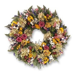 Balsam Hill Sweet Rose and Berry Wreath - BEAUTY SPRINGS ANEW IN BALSAM HILL'S SWEET ROSE AND BERRY WREATH