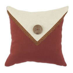 """Chooty & Co. - Circa Solid Lava & Linen 17 x 17 in. Pillow Multicolor - C17EBC1028 - Shop for Pillows from Hayneedle.com! Give your decor a touch of cozy charm with the Circa Solid Lava & Linen 17 x 17 in. Pillow. Made with a blend of soft rayon linen and poly it is irresistibly comfortable. Its cute envelope design adds a touch of handmade charm to your chair bed or sofa. Hand was or spot clean recommended. About Chooty & Co.A lifelong dream of running a textile manufacturing business came to life in 2009 for Connie Garrett of Chooty & Co. This achievement was kicked off in September of '09 with the purchase of Blanket Barons well known for their imported """"soft as mink"""" baby blankets and equally alluring adult coverlets. Chooty's busy manufacturing facility located in Council Bluffs Iowa utilizes a talented team to offer the blankets in many new fashion-forward patterns and solids. They've also added hundreds of Made in the USA textile products including accent pillows table linens shower curtains duvet sets window curtains and pet beds. Chooty & Co. operates on one simple principle: """"What is best for our customer is also best for our company."""""""