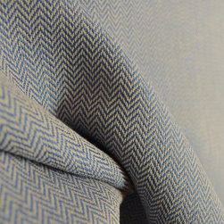 02622 Indigo Small Chevron Blue Upholstery Fabric - Fabricut and Trend fabric 02622 Indigo blue chevron upholstery fabric.  Great linen and cotton blend makes this fabric both durable and soft.  Great for throw pillows, covering a side chair or ottoman or make a cornice board for your windows.  This small blue chevron upholstery fabric will give your room a designer look without a high price.