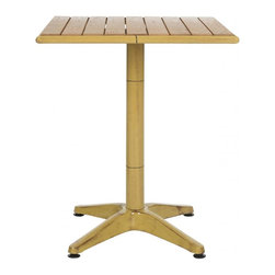 Safavieh - Svana Accent Table - One of life's little luxuries is a drink table right by your chair. Safavieh sets the mood for indoor-outdoor entertaining in style with the Svana end table with oak wood slatted top and aluminum base in bamboo finish.