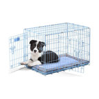 Precision Pet Products - SnooZZy Baby 30 in. Crate Starter Kit Prepack - 1135-11349 - Shop for Dog Crates and Kennels from Hayneedle.com! The SnooZZy Baby 30 in. Crate Starter Kit Prepack is essential for welcoming a new puppy into your life. The wire crate includes a removable pan ensuring easy cleanup for when accidents occur. When puppy gets sleepy the matching crate mat and SnooZZy Baby Buddy Blanket will keep him comfortable and warm. A small bowl is included for food or water. This crate is ideal for dogs up to 40 pounds.About Precision ProductsPrecision Products Inc. is a leading manufacturer or heavy-duty lawn and garden equipment. Based out of a 565 000-square-foot manufacturing facility in Lincoln Ill. Precision operates 32 loading docks that supply the world with spreaders trailer carts and other garden accessories. Precision is devoted to producing innovative products that address a wide variety of lawn care needs.