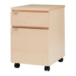 IKEA of Sweden - JONAS Drawer unit on casters - Drawer unit on casters, birch veneer