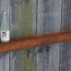 Floating Shelf, Mantel, Vintage Reclaimed Barnwood - Reclaimed Chestnut floating shelf. Perfect fit as a mantel for the smaller fireplace.Designed to fit contemporary or modern decor. Keyhole fasteners installed for easy, secure installation. Light coats of varnish, matte finish.