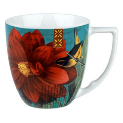 Impressions Set of 4 Mugs Impressions Dahlia in Red