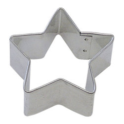 RM - Star 2 In.  B1113X - Star cookie cutter, made of sturdy tin, Size 2 in., Depth 7/8 in., Color silver