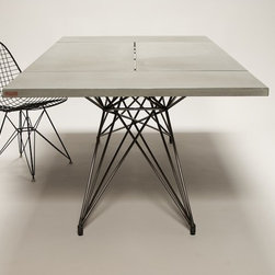 Entwine Table / Concrete Table with Steel Base by Hard Goods - ©2012 Hard Goods, LLC / Photo by John Romero