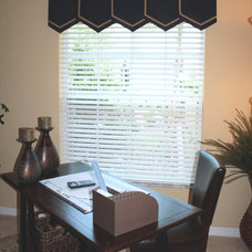 Contemporary Curtains Sophisticated home office