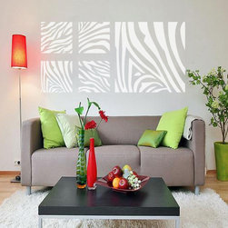 ColorfulHall Co., LTD - Roommate Wall Decal Geometric Zebra Stripe - Roommate Wall Decal Geometric Zebra Stripe