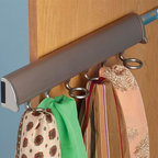 Hafele - Synergy Elite Scarf Rack w Slide in Matte Nic - Holds six scarfs. Warranty: One year. Made from aluminum and zinc. Made in Canada. 13.88 in. W
