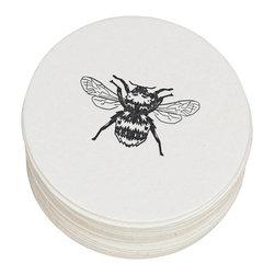 Ruff House Art - Honey Bee Letterpress Paper Coasters - **Boxed Set of 10 Letterpress Paper Coasters