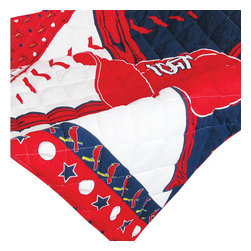 Sports Coverage - MLB St. Louis Cardinals 4 Piece Baseball Crib Bedding Set - Features: