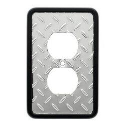 Liberty Hardware - Liberty Hardware 135859 Diamond Plate WP Collection 3.15 Inch Switch Plate - Pol - A simple change can make a huge impact on the look and feel of any room. Change out your old wall plates and give any room a brand new feel. Experience the look of a quality Liberty Hardware wall plate.. Width - 3.15 Inch,Height - 4.9 Inch,Projection - 0.2 Inch,Finish - Polished Chrome,Weight - 0.15 Lbs