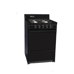 """Brown - 24"""" Gas Range with Selaed Burners - Features:"""