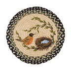 Earth Rugs - CH-121 Robins Nest Round Chair Pad 15.5in. - Robins Nest Round Chair Pad 15.5 in.