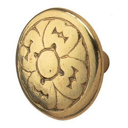 Renovators Supply - Cabinet Knobs Bright Solid Brass Decorative Cabinet Knob Cast - Decorative Cabinet Hardware. This distinctive antique style cabinet knob is crafted from solid brass and polished to a brilliant finish.
