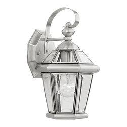Livex - Livex Georgetown Outdoor Wall Lantern 2061-91 - Finish: Brushed Nickel