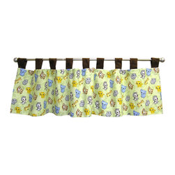 Trend Lab - Chibi Zoo - Window Valance - Why not go all the way? and complete your babys nursery with this wonderful accessory? The Chibi Zoo - Window Valance by Trend Lab features 9 ultrasuede tabs at the top that allow for easy hanging. Measures 53 in x 15 in and fits a standard size window. Care instructions - Machine wash cold with like colors; Gentle cycle; Do not bleach; Tumble dry low or line dry; Do not dry clean; Do not iron.