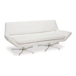 "Avenue Six Yield 72"" Loveseat, White"