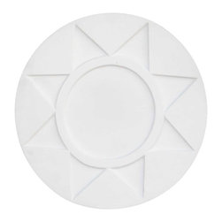 Renovators Supply - Ceiling Medallions White Urethane Ceiling Medallion 15 3/8'' Dia - Ceiling Medallions: Made of virtually indestructible  high-density  urethane our medallions are cast from  steel molds  making them the highest quality on the market. Steel molds provide a higher quality result for  pattern consistency, design clarity & overall strength & durability.  Lightweight they are  easily installed  with no special skills. Unlike plaster or wood urethane is resistant to  cracking, warping or peeling.   Factory-primed  these medallions are ready for finishing.