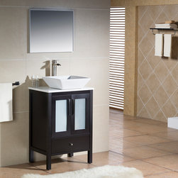 Modern Bathroom Vanities - The Fulton collection features a contemporary and timeless design. The frosted tones radiate a feeling of fluidity that enhances design harmony. The color combinations available for this collection makes them perfect for balancing neutral spaces. The innovative design gives you a soft close drawer for improved storage.