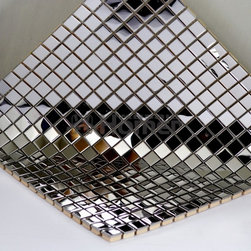 stainless steel Mosaic Metal Wall TILE for Bathroom Kitchen Backsplash Shower, H - Specifications: