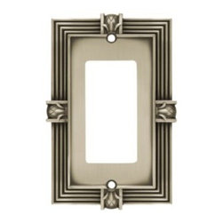 Liberty Hardware - Liberty Hardware 64463 Pineapple WP Collection 3.15 Inch Switch Plate - A simple change can make a huge impact on the look and feel of any room. Change out your old wall plates and give any room a brand new feel. Experience the look of a quality Liberty Hardware wall plate. Width - 3.15 Inch, Height - 4.9 Inch, Projection - 0.3 Inch, Finish - Brushed Satin Pewter, Weight - 0.28 Lbs.