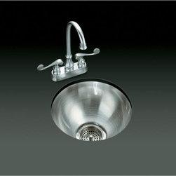 KOHLER - KOHLER K-3339-NA Undertone Undercounter Kitchen Sink with Circular Basin - KOHLER K-3339-NA Undertone Undercounter Kitchen Sink with Circular Basin