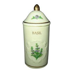 Lenox - Lenox Spice Garden (Giftware) Spice Jar - Basil - Lenox Spice Garden (Giftware) Spice Jar - Basil