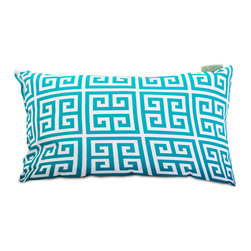 Majestic Home - Outdoor Pacific Towers Small Pillow - Add a splash of color and a little texture to any environment with these great indoor/outdoor plush pillows by Majestic Home Goods. The Majestic Home Goods Small Pillow will add additional comfort to your living room sofa or your outdoor patio. Whether you are using them as decor throw pillows or simply for support, Majestic Home Goods Small Pillows are the perfect addition to your home. These throw pillows are woven from Outdoor Treated polyester with up to 1000 hours of U.V. protection, and filled with Super Loft recycled Polyester Fiber Fill for a comfortable but durable look. Spot clean only.