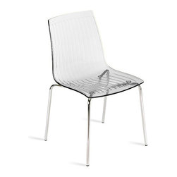 PAPATYA - PAPATYA X-TREME S CHAIR, Set of 2, Transparent Clear - X-Treme S has a minimal shape but luxurious appearance. Stackable chair exists in two types of expressive transparent and solid colour versions. Shell is made of polycarbonate with steel tube structure. Anti UV stabilized. Priced as Set of 2.