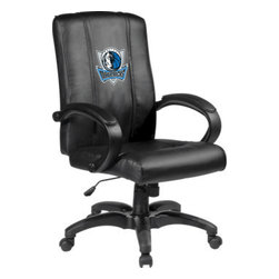 Dreamseat Inc. - Dallas Mavericks NBA Home Office Chair - Check out this Awesome - it's one of the coolest things we've ever seen. Features a zip-in-zip-out logo panel embroidered with 70,000 stitches. Converts from a solid color to custom-logo furniture in seconds - perfect for a shared or multi-purpose room. Root for several teams? Simply swap the panels out when the seasons change. This is a true statement piece that is perfect for your Man Cave or Home Office, and it's a must-have for the person who wants to personalize their work space.